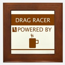 Drag Racer Powered by Coffee Framed Tile