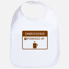 Embroiderer Powered by Coffee Bib