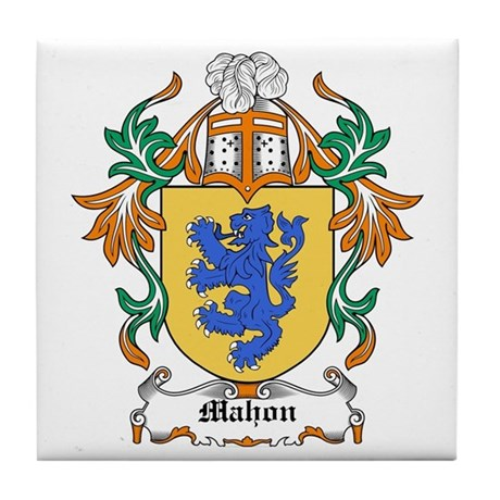 Mahon Coat of Arms Tile Coaster