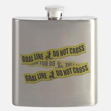 Lacrosse Goalie Crime Tape Flask