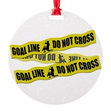 Lacrosse Goalie Crime Tape Ornament