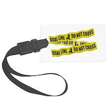 Lacrosse Goalie Crime Tape Luggage Tag