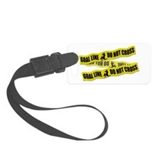 Lacrosse Goalie Crime Tape Luggage Tag
