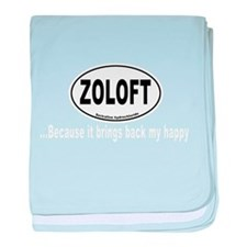 Zoloft Brings Back My Happy baby blanket
