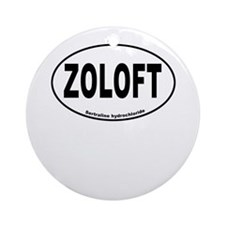 Zoloft Brings Back My Happy Ornament (Round)