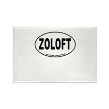 Zoloft Brings Back My Happy Rectangle Magnet