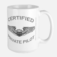Pilot Wings (silver) Large Mug