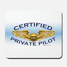 Pilot Wings (gold on blue) Mousepad