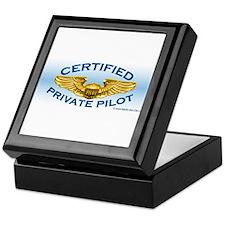 Pilot Wings (gold on blue) Keepsake Box