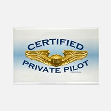 Pilot Wings (gold on blue) Rectangle Magnet