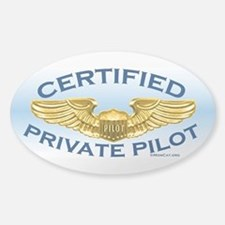Pilot Wings (gold on blue) Stickers