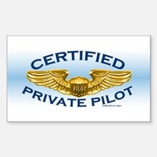 Pilot Wings (gold on blue) Decal