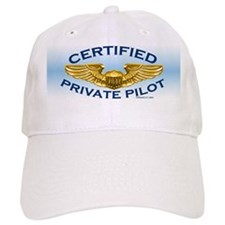 Pilot Wings (gold on blue) Baseball Cap