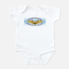 Pilot Wings (gold on blue) Infant Bodysuit