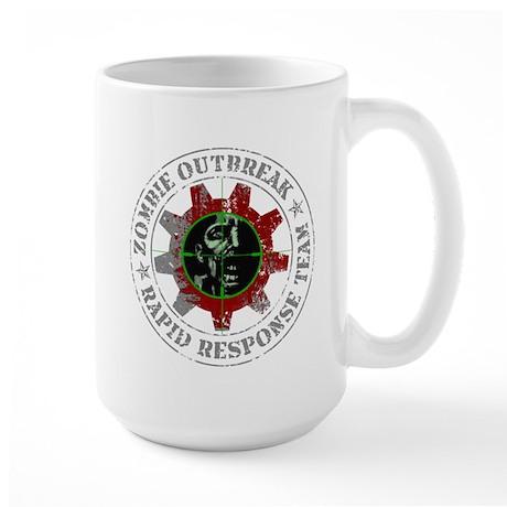 Zombie Outbreak Rapid Response Team Large Mug