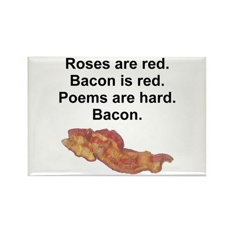 Bacon Poem Rectangle Magnet (10 pack)