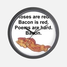 Bacon Poem Wall Clock