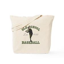 Old School Baseball Tote Bag