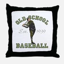 Old School Baseball Throw Pillow