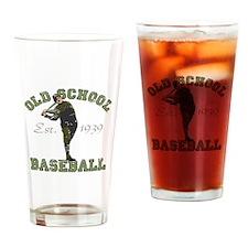 Old School Baseball Drinking Glass