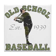 Old School Baseball Tile Coaster