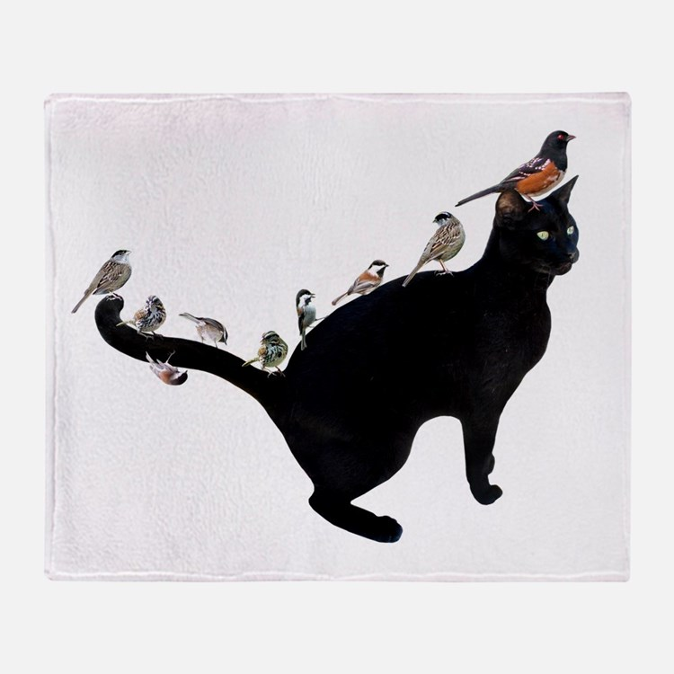 Birds on Cat Throw Blanket