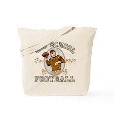 Old School Football Tote Bag
