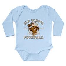 Old School Football Long Sleeve Infant Bodysuit