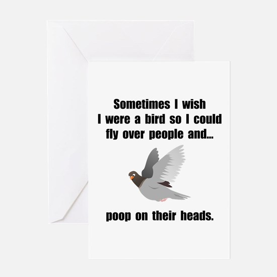 Bird Poop On Head Greeting Card