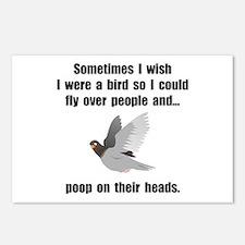 Bird Poop On Head Postcards (Package of 8)