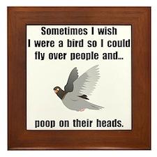 Bird Poop On Head Framed Tile