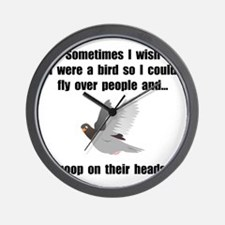 Bird Poop On Head Wall Clock