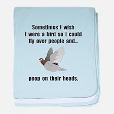 Bird Poop On Head baby blanket