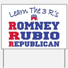 Romney Rubio Republican 2012 Yard Sign