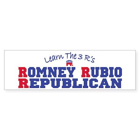 Romney Rubio Republican 2012 Sticker (Bumper)