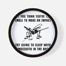Mosquito Impact Wall Clock