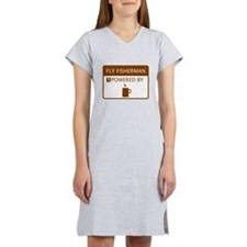 Fly Fisherman Powered by Coffee Women's Nightshirt