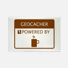 Geocacher Powered by Coffee Rectangle Magnet