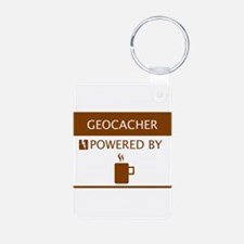 Geocacher Powered by Coffee Keychains