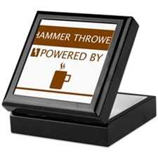 Hammer Thrower Powered by Coffee Keepsake Box