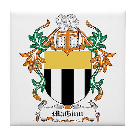 MaGinn Coat of Arms Tile Coaster