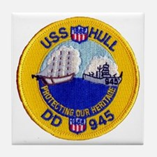 USS HULL Tile Coaster