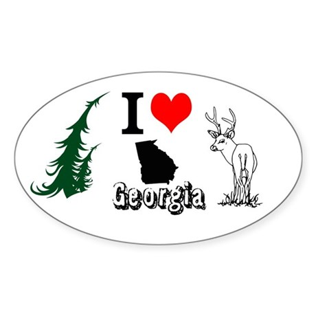I Love Georgia Sticker (Oval)