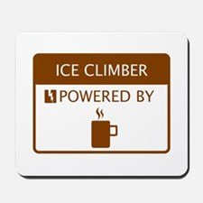 Ice Climber Powered by Coffee Mousepad