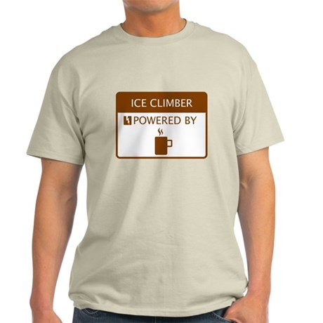 Ice Climber Powered by Coffee Light T-Shirt