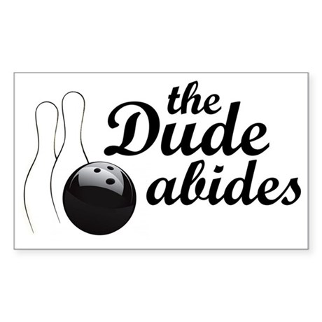 The Dude Abides Sticker (Rectangle)