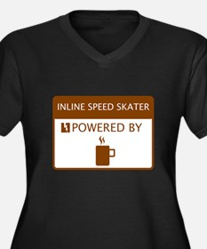 Inline Speed Skater Powered by Coffee Women's Plus