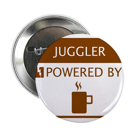 """Juggler Powered by Coffee 2.25"""" Button"""