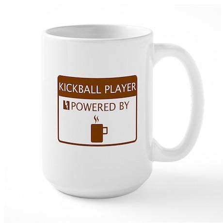 Kickball Player Powered by Coffee Large Mug