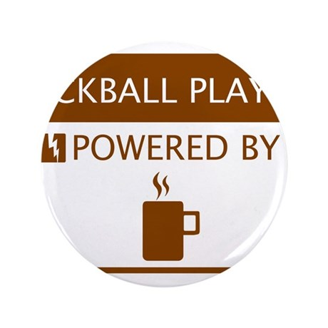 """Kickball Player Powered by Coffee 3.5"""" Button"""